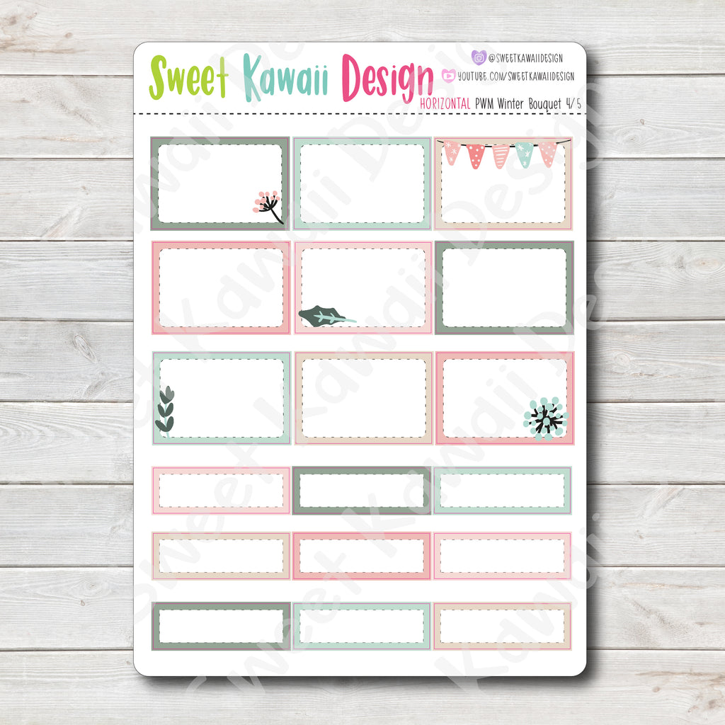 Kawaii Plan With Me - Winter Bouquet HORIZONTAL