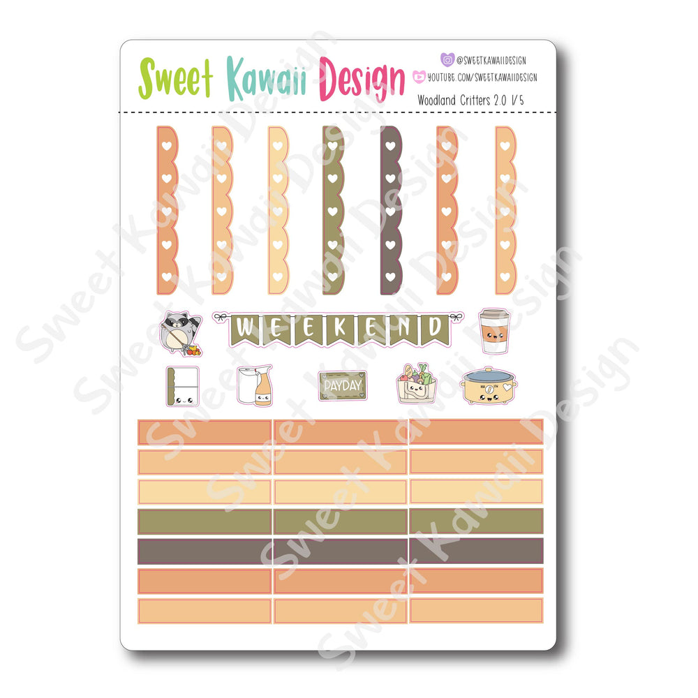Weekly Kit  - Woodland Critters HORIZONTAL