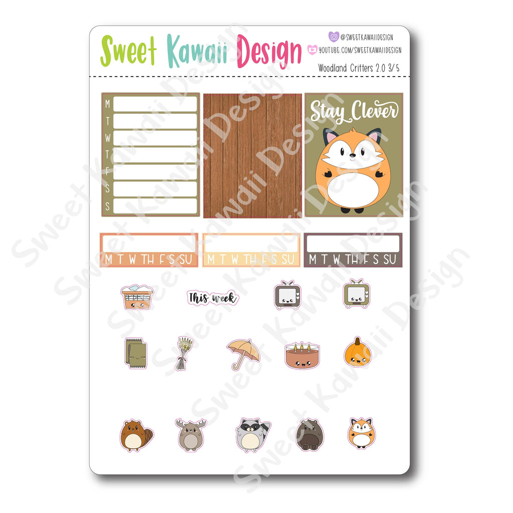 Weekly Kit  - Woodland Critters