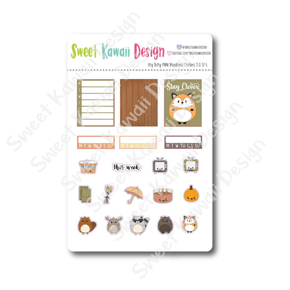 Weekly Kit  - Woodland Critters ITTY BITTY