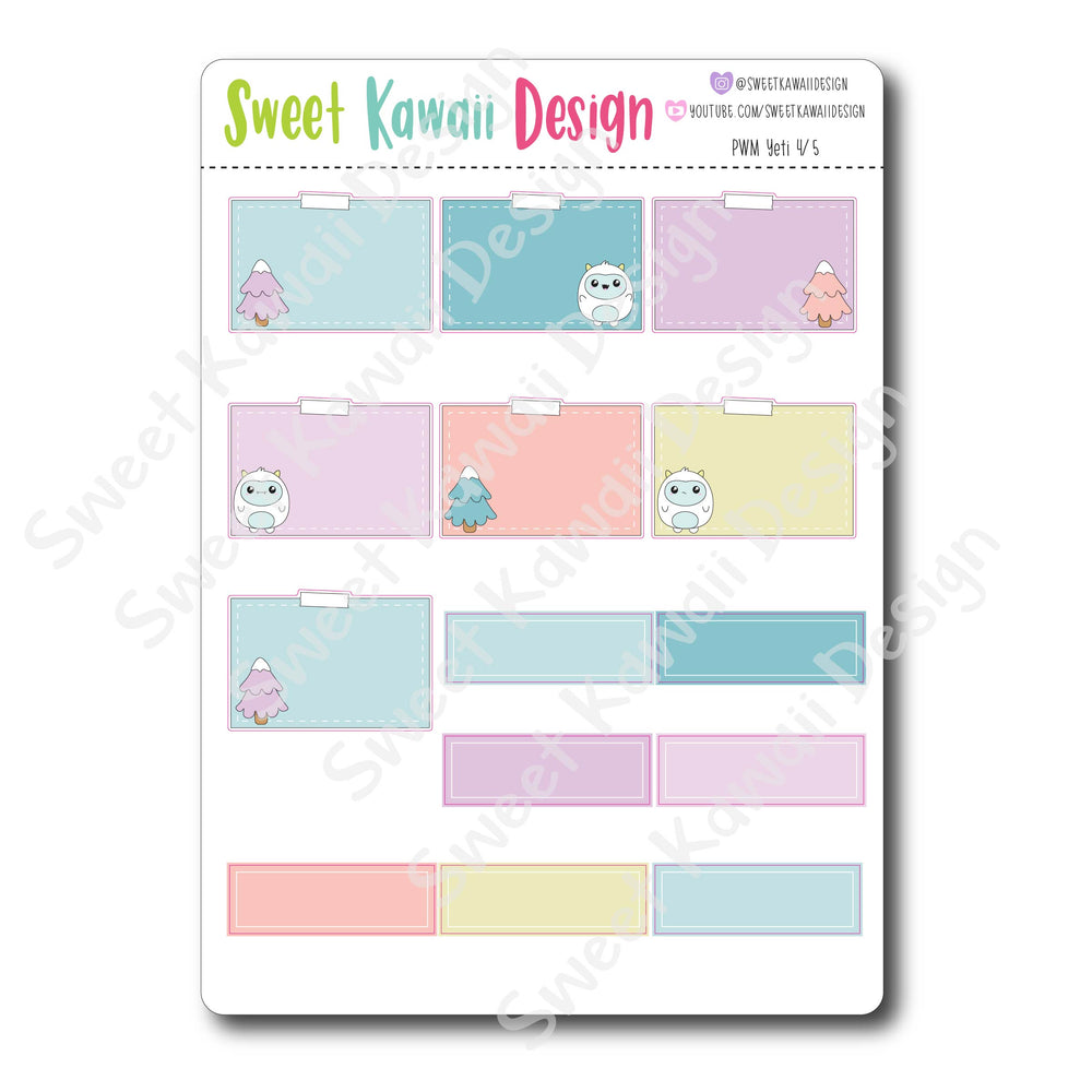 Kawaii Plan With Me - Yeti HORIZONTAL