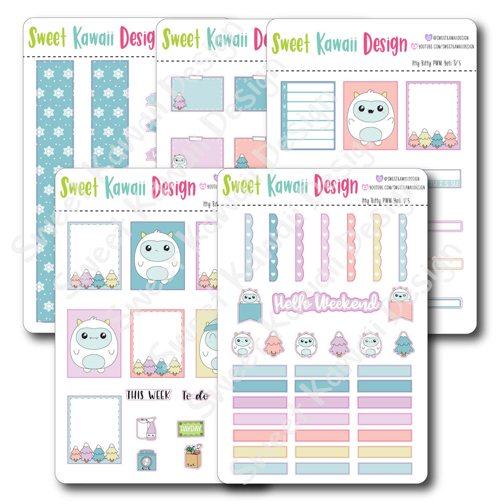 Kawaii Plan With Me - Yeti ITTY BITTY