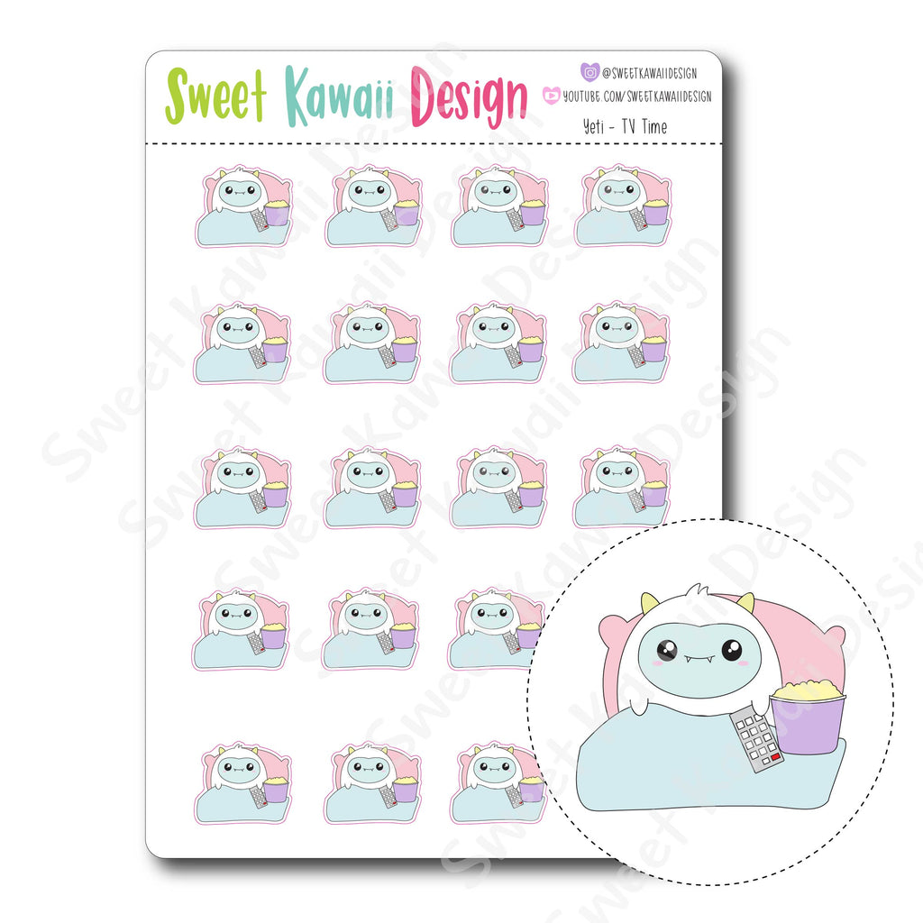 Kawaii Yeti Stickers - TV Time