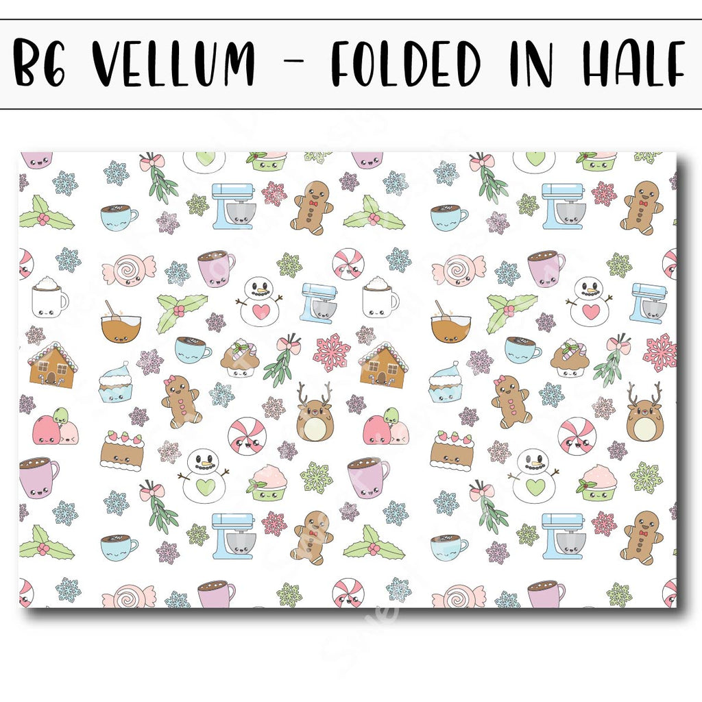 Holiday Sweets Vellum - B6 - Folded in Half
