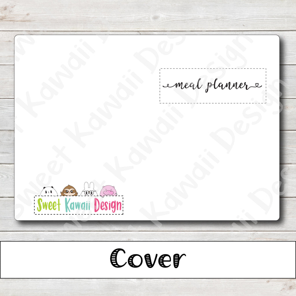 B6 - Meal Planner Travelers Notebook Insert  (5x7)