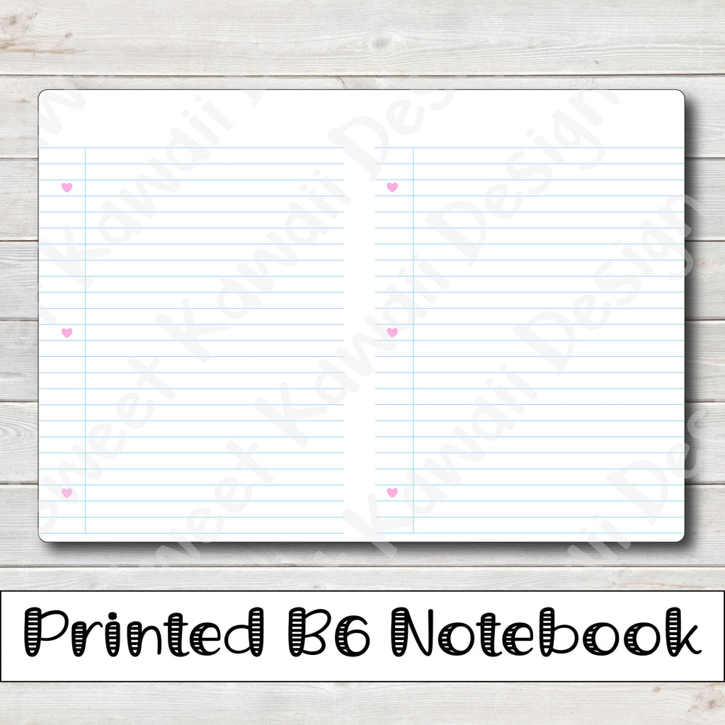 B6 - Notes Travelers Notebook Insert  (5x7)