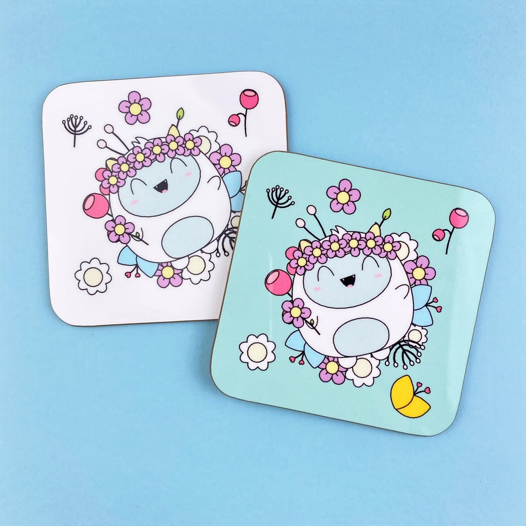 SKD Drink Coasters - Frank Floral (set of 2)