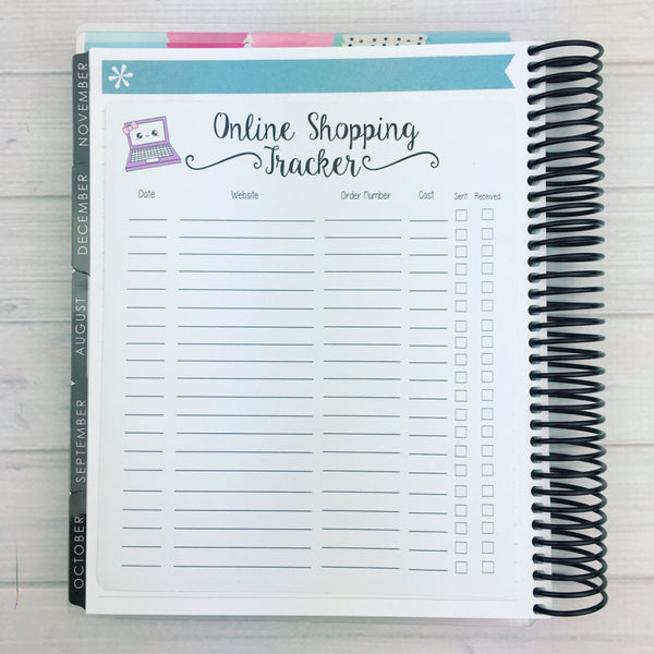 Kawaii Online Shopping Tracker Sticker (jumbo)