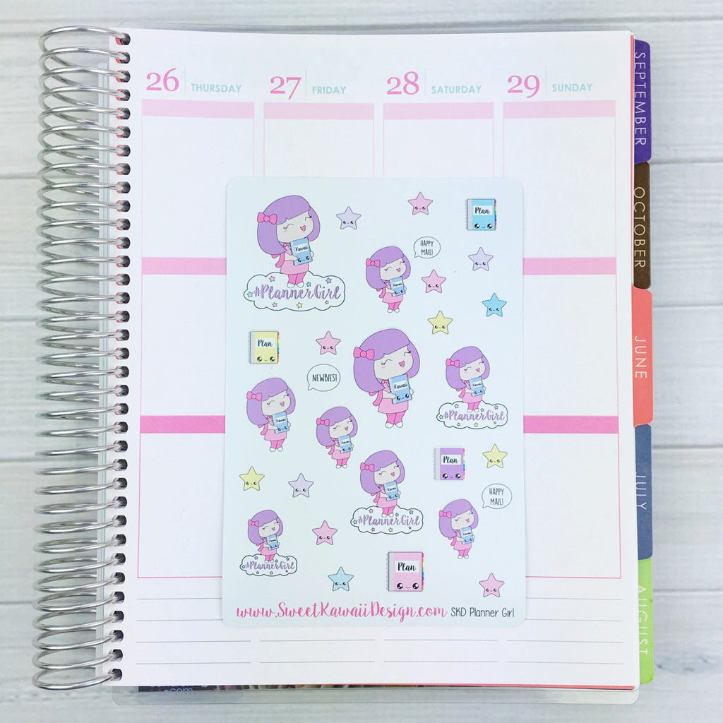 Kawaii SKD Planner Girl Stickers