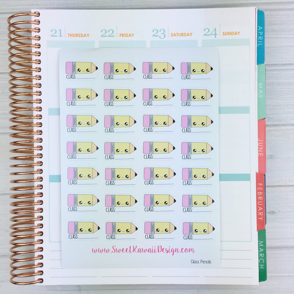 Kawaii Class/Pencil Stickers