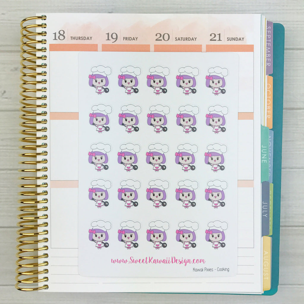 Kawaii Planner Pixies - Cooking