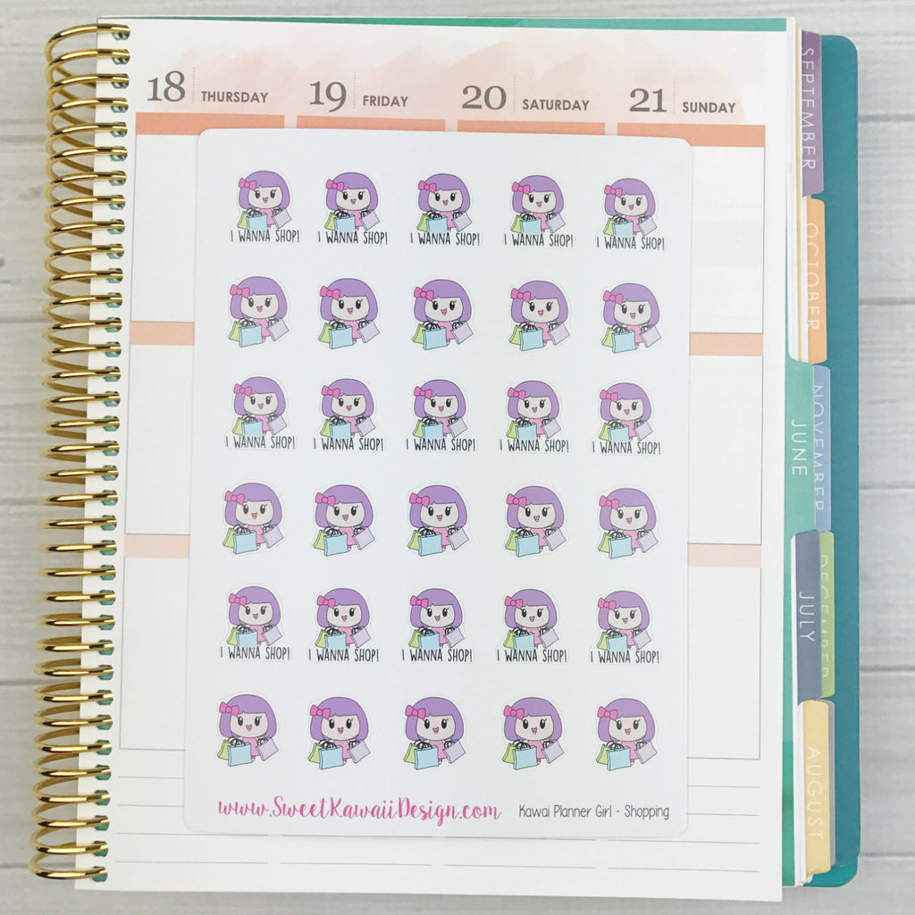 Kawaii Planner Pixies - Shopping