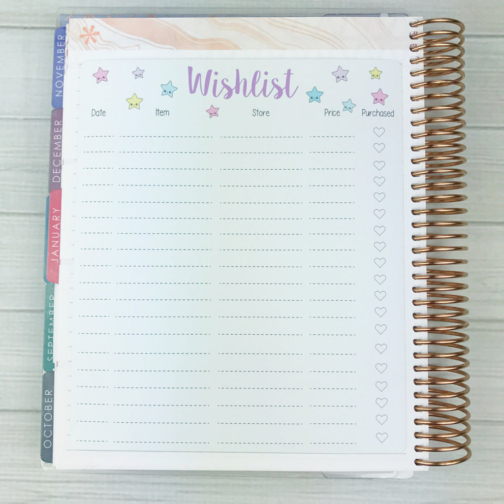 Kawaii Wishlist Sticker (jumbo)