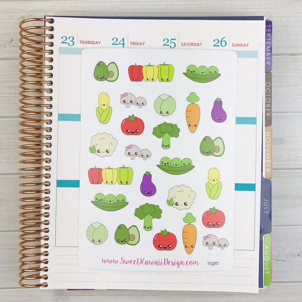 Kawaii Vegetable Stickers