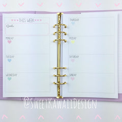 A5 Kawaii Planner Insert - Weekly Layout