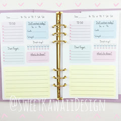 A5 Kawaii Planner Insert - General/Daily Insert