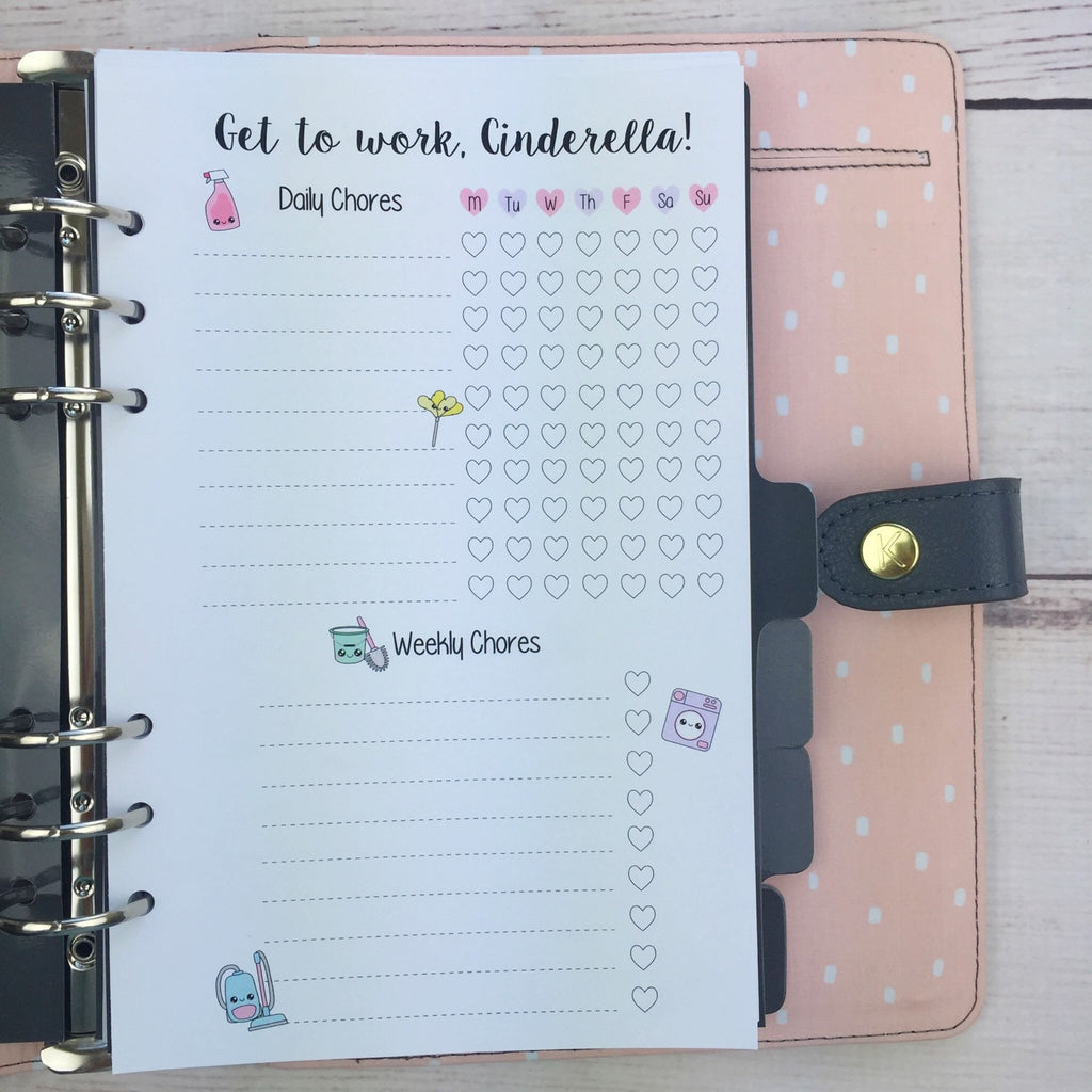Kawaii Planner Insert - Cleaning Checklist