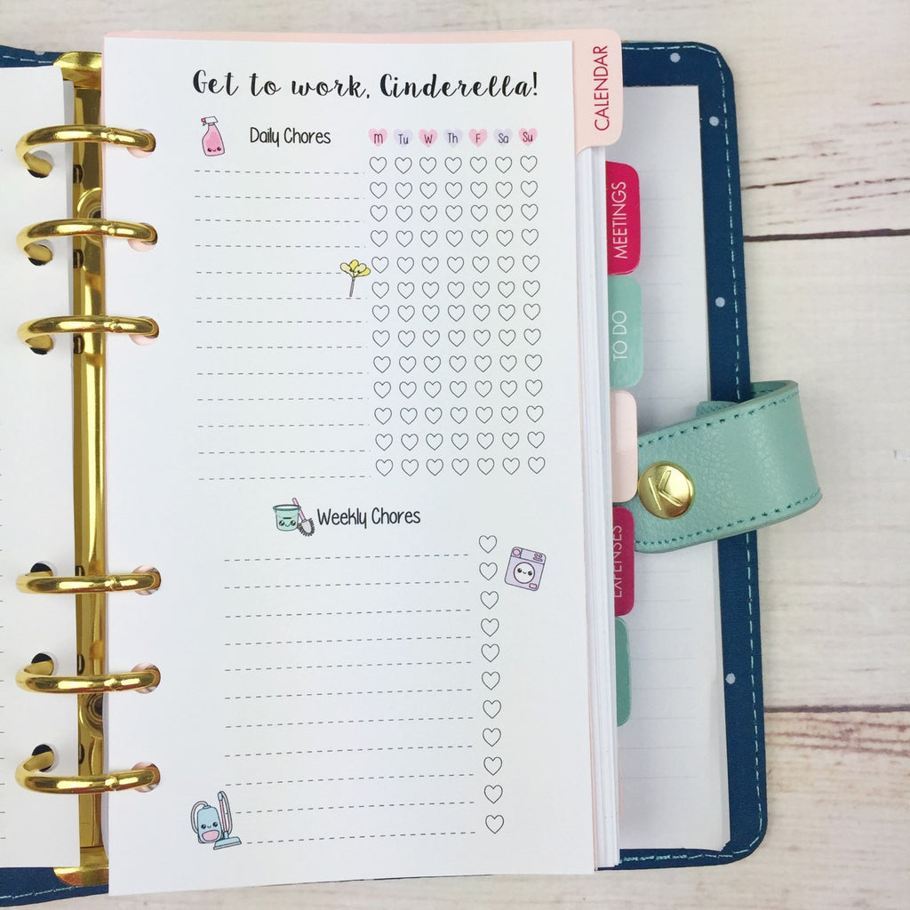 PERSONAL SIZE Planner Insert - Cleaning List