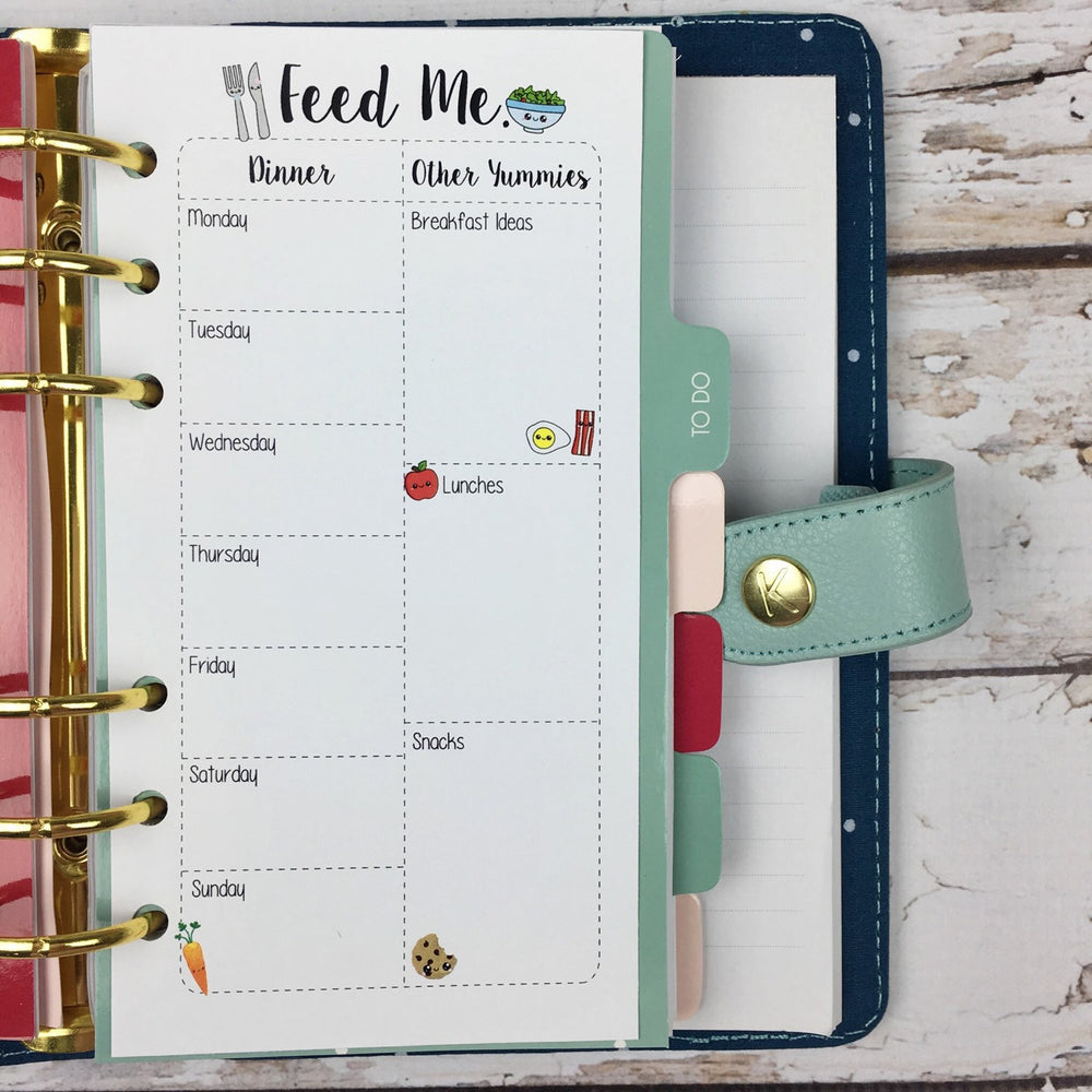 PERSONAL SIZE Planner Insert - Feed Me Menu Planner