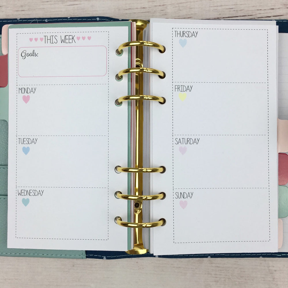 "PERSONAL SIZE Planner Insert - ""This Week"""