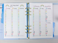 A5 Kawaii Planner Insert - Get Things Done (Pastel Stars)