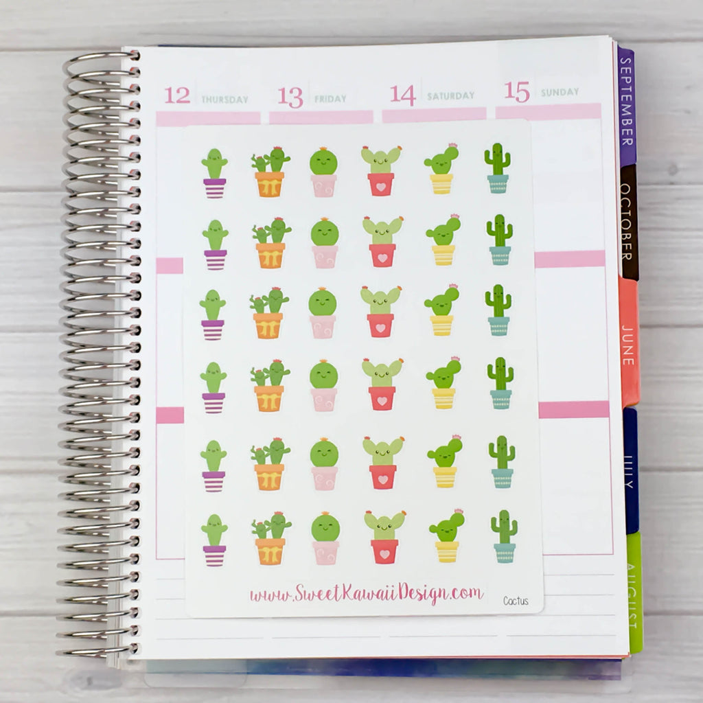 Kawaii Cacti Stickers
