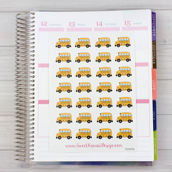 Kawaii School Bus Stickers