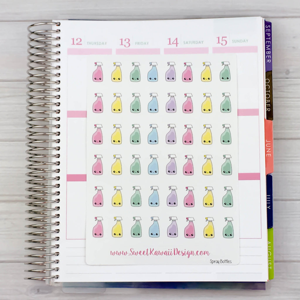 Kawaii Spray Bottle Stickers