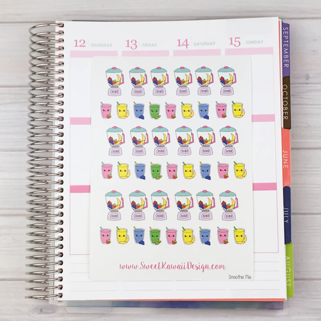 Kawaii Blender/ Fruit Smoothie Stickers