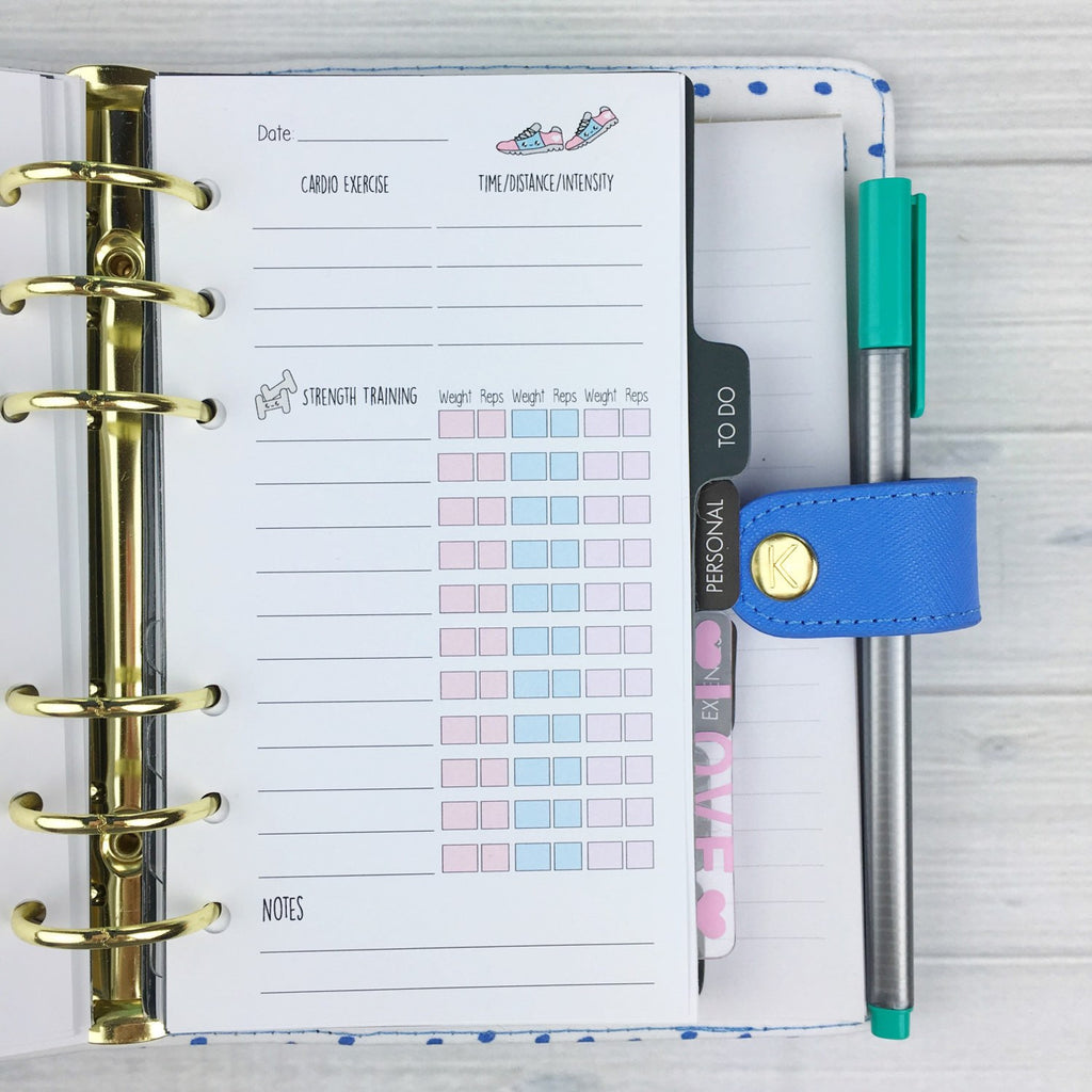 PERSONAL SIZE Planner Insert - Training Log