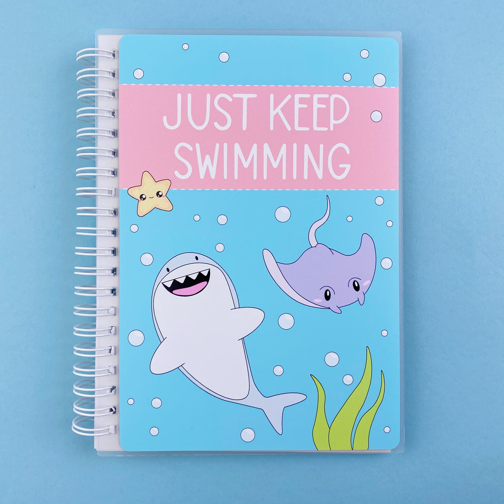 SKD 5x7 Reusable Sticker Book - Keep Swimming