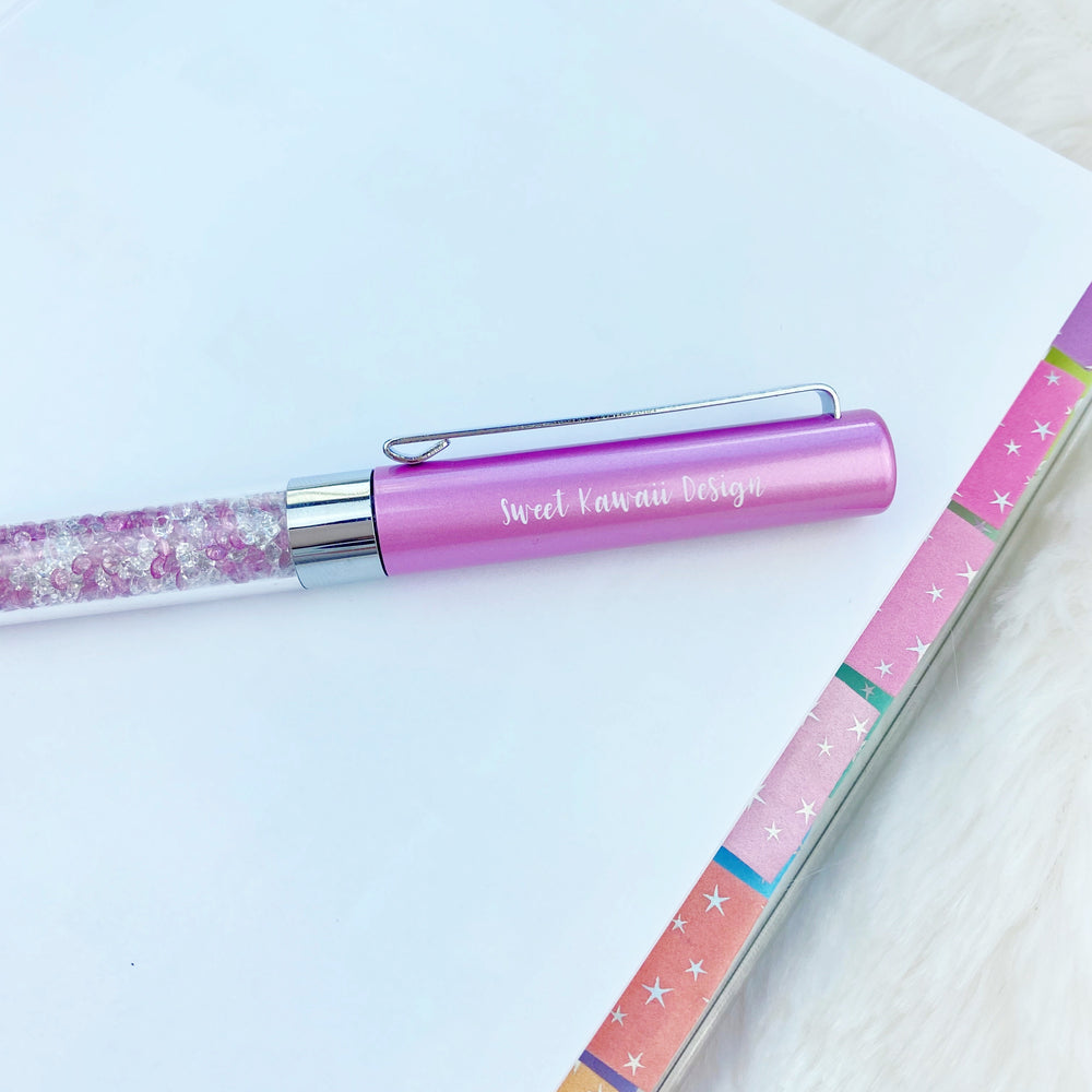 Sweet Kawaii Design - Purple Crystals Pen