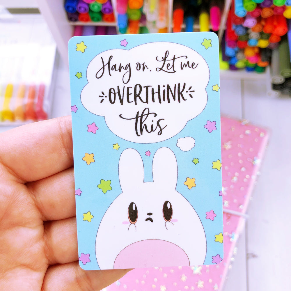 Washi Card - Overthinking