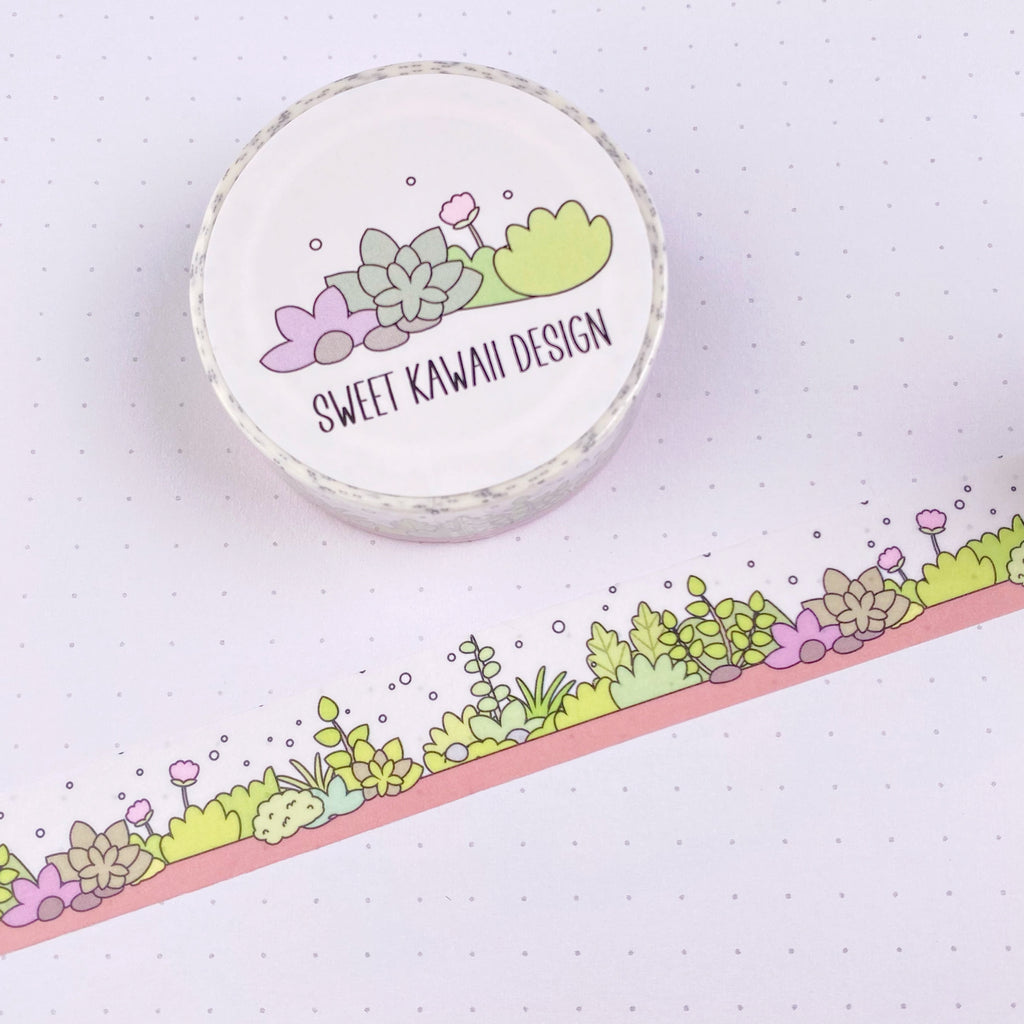 Kawaii Terrarium Washi Tape 15mm x 10m