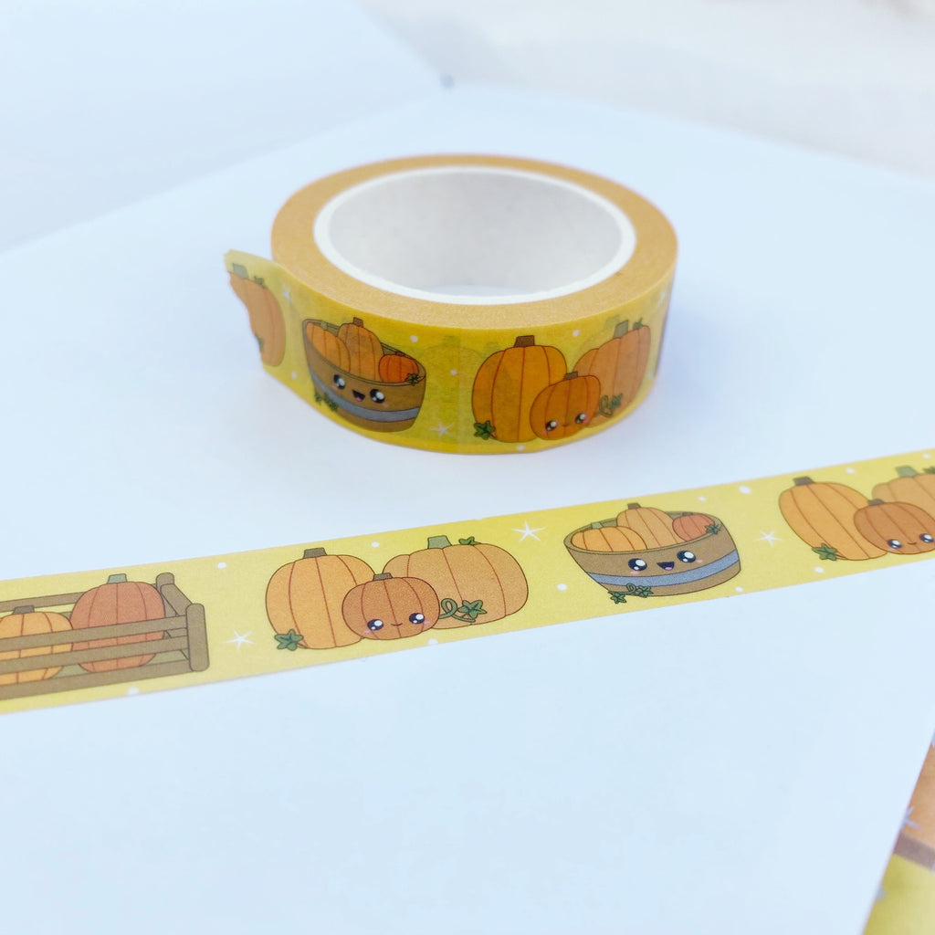 Kawaii Fall Pumpkin Washi Tape 15mm x 10m