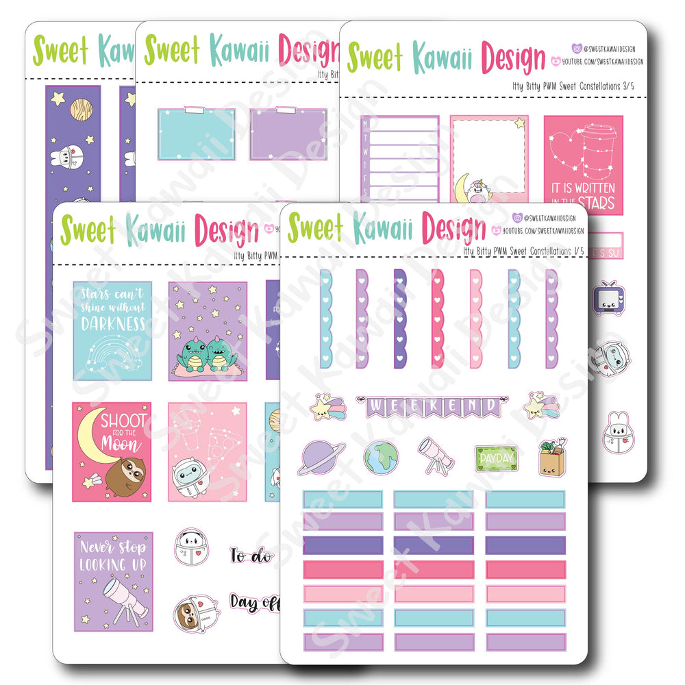 Weekly Kit  - Sweet Constellations ITTY BITTY