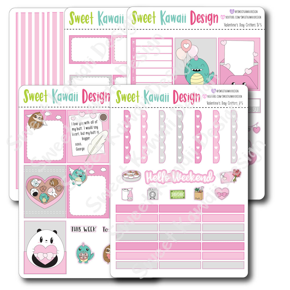 Weekly Kit  - Valentine's Day Critters HORIZONTAL