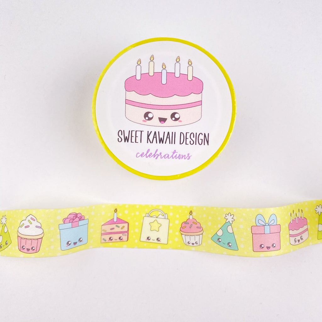 Kawaii Celebrations Washi Tape 15mm x 10m
