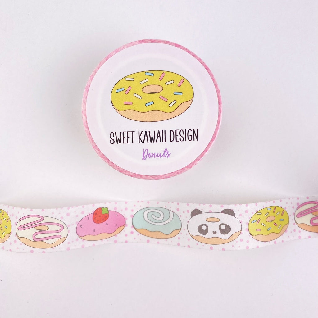 Kawaii Donut Washi Tape 15mm x 10m