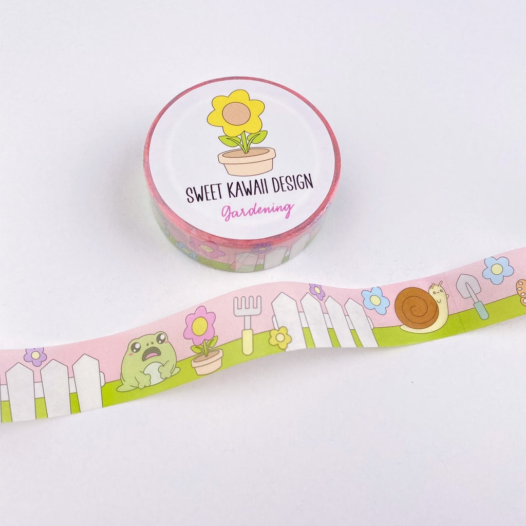 Kawaii Gardening Washi Tape 15mm x 10m