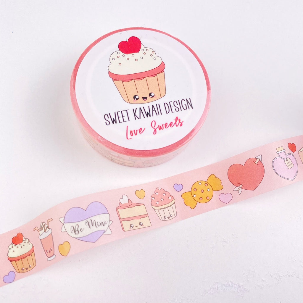 Kawaii Love Sweets Washi Tape 15mm x 10m