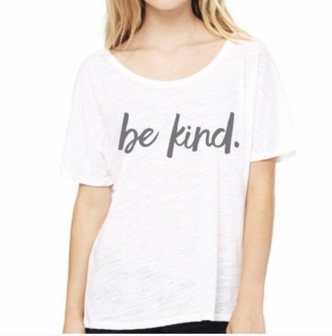 'Be Kind' Scoop Neck Relaxed Tee