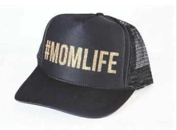 #MOMLIFE Black Trucker Hat