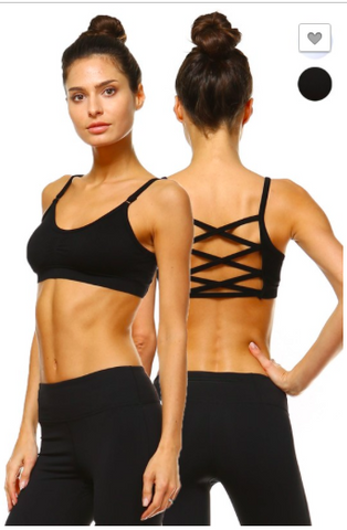Black Criss-Cross Sports Bra