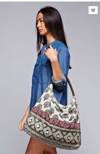 Boho Mixed Print Bag
