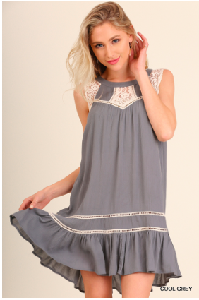 Cool Grey Sleeveless Dress