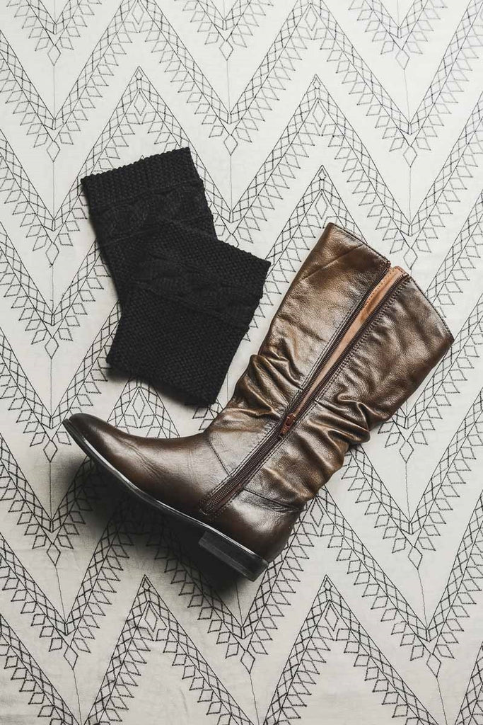 Cable Ribbed Boot Cuffs