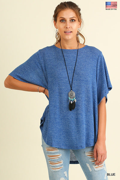 Perfect for Fall-Blue Lightweight Top