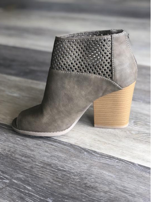 Open Toe Caged Bootie
