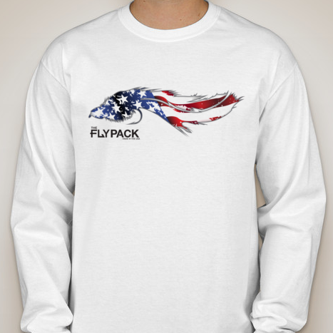 Big Bug American Flag Long Sleeve Tee